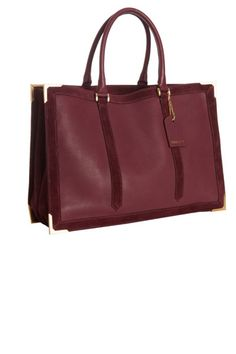 Fendi Bordeaux Leather Suede Trim Classic No. 4 tote bag.  gimme, gimme, gimme