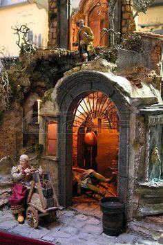 Nativity Stable, Jobs In Art, Christmas Nativity Scene, Islamic Art, Painting, Nativity Sets, Artists, Houses, Nativity Scenes