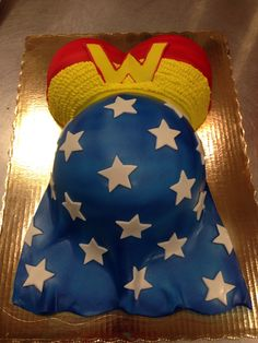 "Baby shower cake for a ""Wonder Woman"""