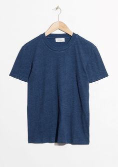 & Other Stories image 1 of Cotton T-Shirt in Blue Dark
