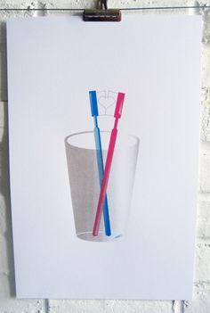 True love toothbrush print