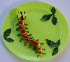 Cute healthy snacks Salad Caterpillar