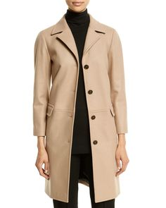 Mohair-Blend Button-Front Coat, Open White - Jil Sander Navy