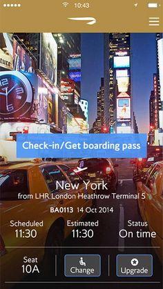 The British Airways mobile app