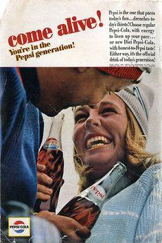 1964 Pepsi Cola Diet Pepsi Magazine Advertising Ad Whole Page Pepsi Advertisement, Retro Advertising, Advertising Campaign, Vintage Advertisements, Vintage Ads, Diet Pepsi, Pepsi Cola, Coke, Nostalgia