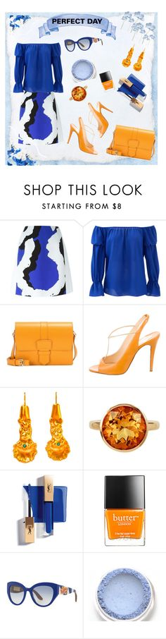"""""""Untitled #692"""" by lisa-gache ❤ liked on Polyvore featuring Kenzo, Nicole Miller, Salvatore Ferragamo, Christian Louboutin, Chen Fuchs Jewelry, Plukka, Butter London and Dolce&Gabbana"""