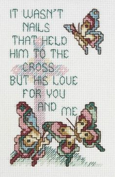 Janlynn - His Love Counted Cross Stitch Kit # 080-0460