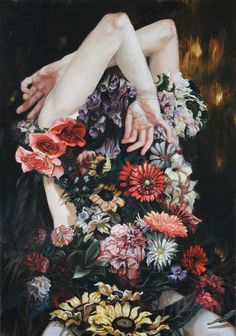 Paintings by artist Meghan Howland.