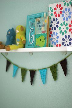 #Crochet Pennant Garland