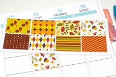 8 Autumn/Fall Stickers for Plum Paper Planners by KarolinasKrafts
