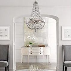 Love this idea for first room on left sitting area or possibly turning into formal dining room.