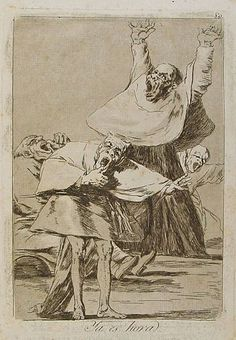 'Ya es hora': Los caprichos del pintor español Francisco de Goya.