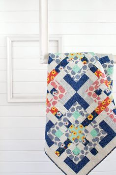 This quilt, with its interlocking design is surprisingly easy. Make the quilt block units assembly-line style and you'll be done in no time.