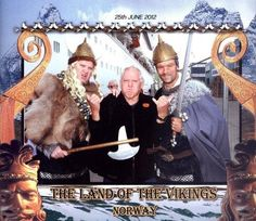 Me having fun with a couple of Norwegian dudes while on a cruise through the Fjords.
