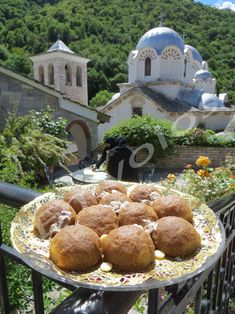 Greek Recipes, Stuffed Mushrooms, Food And Drink, Sweets, Vegan, Vegetables, Cooking, Outdoor Decor, Desserts