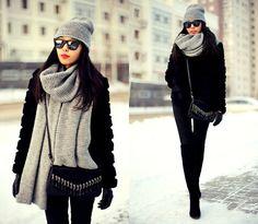 Get this look: http://lb.nu/look/5775485  More looks by Aibina  Yeshkeyeva: http://lb.nu/aibina  Items in this look:  Zara Hat, Zara Scarf