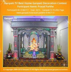 Prasad Parkhe Home Ganpati Picture View more pictures and videos of Ganpati Decoration at www.