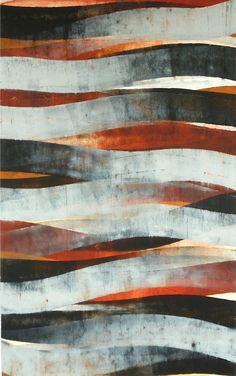 Stream #1, oil and wax on paper, 40x26, Glovaski 2011