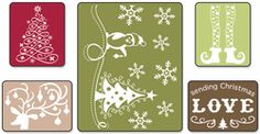 Sizzix Textured Impressions Embossing Folders - Sending Christmas Love - Click to enlarge