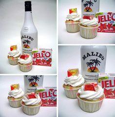 Malibu rum jello cupcakes
