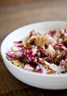 grilled radicchio and endive salad
