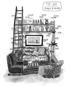 Lavinia Good Food - Illustrated stories by loren Good Food, Illustration, Small Cafe, Illustrations, Yummy Food