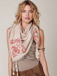 Chan Luu Fontana Print Scarf at Free People Clothing Boutique