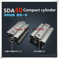 SDA40*15-S Free shipping 40mm Bore 15mm Stroke Compact Air Cylinders SDA40X15-S Dual Action Air Pneumatic Cylinder #Affiliate