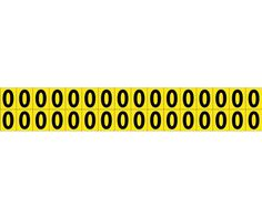 """Number CARD, 5/8"""" 0 (32 NumberS/CARD), PS CLOTH"""
