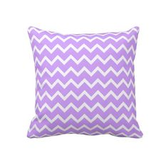 Shop Lilac Chevron Throw Pillow created by jenniferstuartdesign. Purple Pillows, Chevron Throw Pillows, Lilac Room, Purple Bedrooms, Purple Chevron, Decorative Throws, Purple Wedding, Custom Pillows, Bedroom Ideas