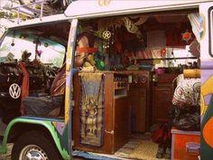 All in a Boho van.