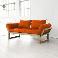 Edge Sofa Bed Natural Orange (240 gbp). (Seems to be a single when a bed).