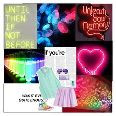 """☼ and maybe we could shine brighter than neon ☼"" by perfxct-escape ❤ liked on Polyvore featuring Carrera, Converse, Clinique and kyleesmagazines"