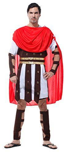 La Vogue Stage Costume Men Roman Prince Halloween Cosplay Outfit Red One Size *** Read more  at the image link.
