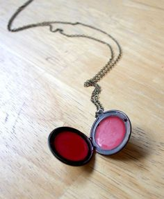 How To Make Easy DIY Lip Balm In A Locket | Cool Craft Projects For Teenagers By DIY Ready. http://diyready.com/25-more-cool-projects-for-teens-cool-crafts-for-teens/#