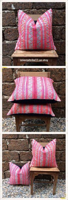 Vintage Ethnic Textile Decorative Throw Pillow Case http://www.etsy.com/shop/orientaltribe11