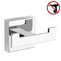 Croydex Cheadle Flexi-Fix Double Robe Hook - Medium Image Bathroom Door Hooks, Chrome Plating, Bathroom Accessories, Plumbing, Basin, Bookends, Hanger, Tiles, Medium