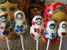 Russian doll cake pops