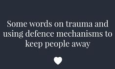 Some words on trauma and using defence mechanisms to keep people away  Trigger warning - violence animal abuse and a brief mention of attempted sexual assault This isn't the blog post I started to write. Take this as you will - a woe is me if you're cynical or someone sharing a hard time in their life in case it resonates with someone else who has lived through trauma and built walls to keep it in.  I wrote the paragraph that follows then realised I'd forgotten the toughest 4 years of my…