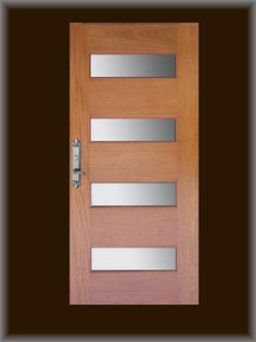 Dbyd This Custom Contemporary Front Entry Door Was Designed