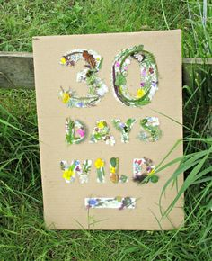 Sticky nature cards are a really fun activity to take with you when you are out exploring nature. You can make them as simple or complicated as you like. Today we decided to do a #30DaysWild board, to celebrate the start of the Wildlife Trusts campaign