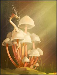 Mushroom's dragon by GaudiBuendia on deviantART via PinCG.com