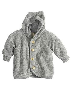 Organic Wool Terry Cloth Jacket // Hessnatur - they have cute organic baby clothes