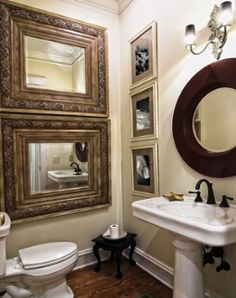 decorating bathroom with mote than one mirror | traditional decorating ideas for bathrooms - fine decorative ...