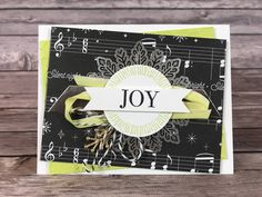 Christmas Card- Joy & Music Christmas Card Class Kit by ScrapHappyPagesStore on Etsy