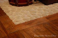 Beyond the Screen Door - Inset Carpet in Wood Floor