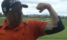 KT Tape elbow application in golf kt-tape-in-the-wild