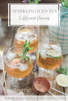 Making homemade iced tea is simple. Black tea concentrate, fruit infused simple syrup and sparkling water make for a delicious batch of sparkling iced tea. Iced Tea Recipes, Drink Recipes, Yummy Recipes, Healthy Recipes, Sparkling Tea Recipe, Mint Iced Tea, Homemade Iced Tea, Best Summer Cocktails, Mint Simple Syrup