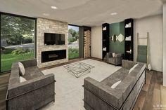 Plan de Maison Moderne Ë_118 | Leguë Architecture Luz Natural, Plane, L Shaped House Plans, Interior Exterior, Villa, Floor Plans, House Design, Patio, Flooring