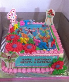 Butterfly Cake: Winx Club Cake